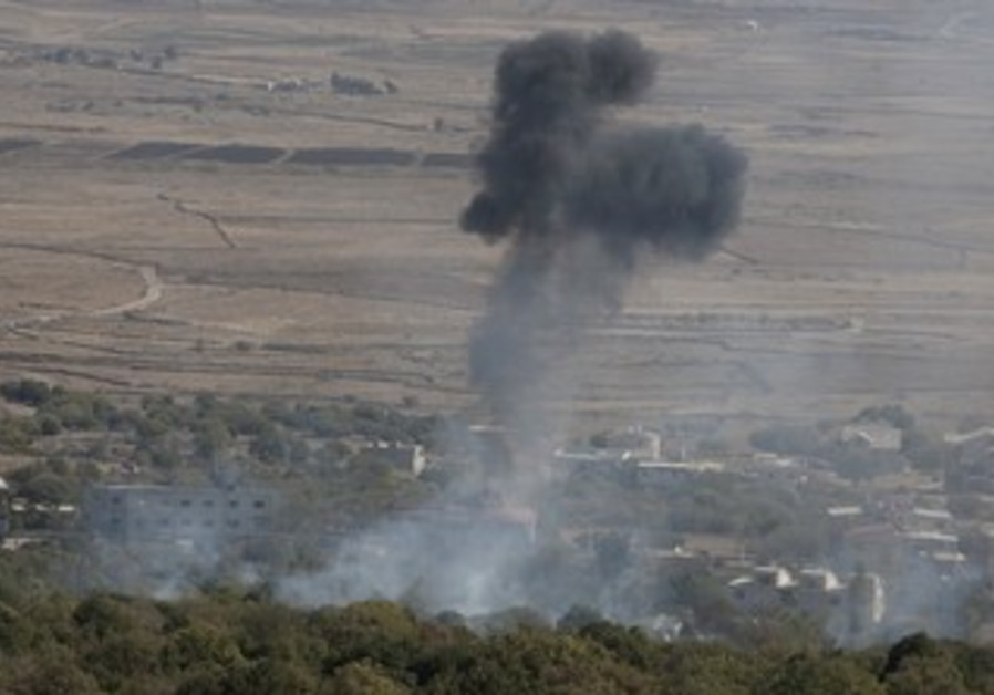 Syrian mortar shell explodes in Golan [file]
