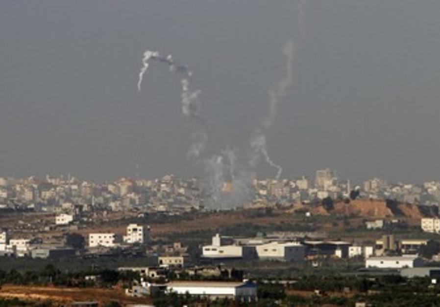 Kfar Aza kibbutz where the Kassam rocket fell