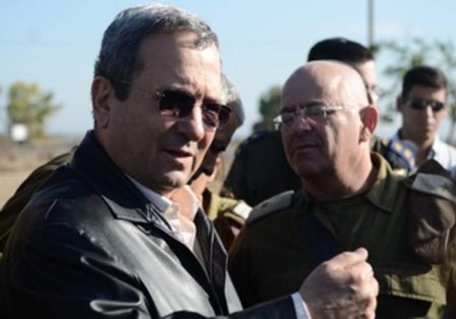 Ehud Barak at Gaza security evaluation.