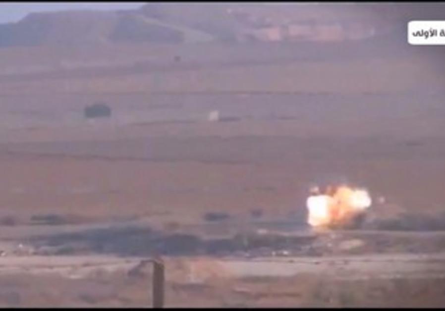 IDF jeep explosion video screenshot