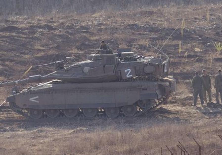 Des soldats sur le plateau du Golan