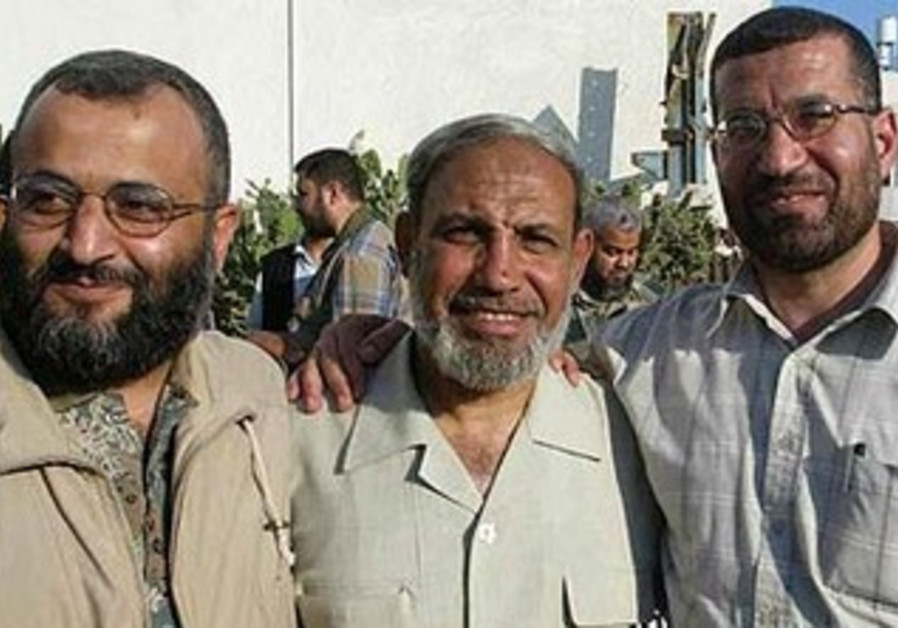 Hamas's Military Chief Ahmed Jabari [Right]