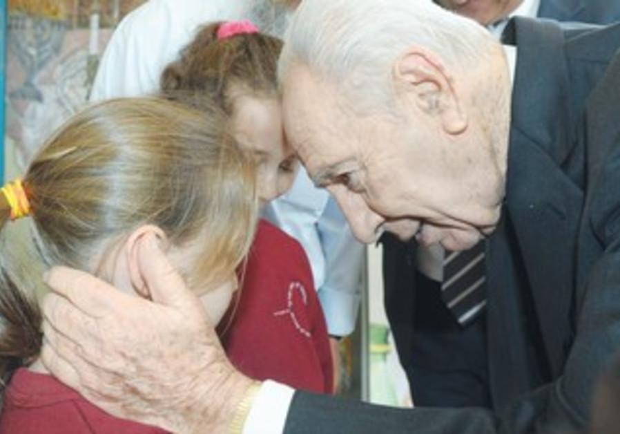 PERES speaks to Sderot children