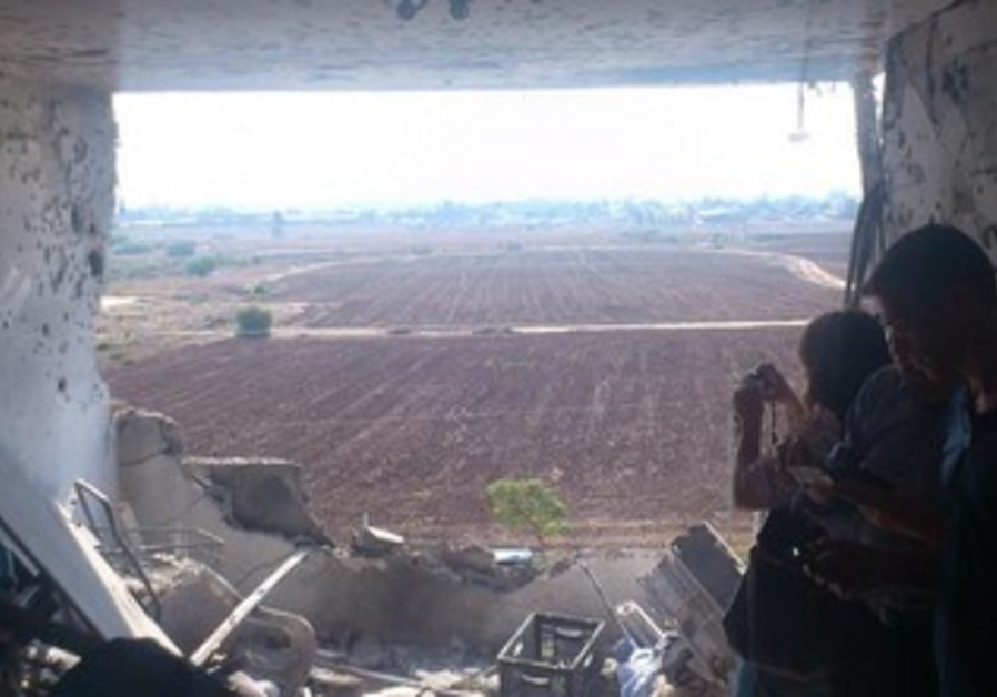 Rocket-damaged Kiryat Malachi home