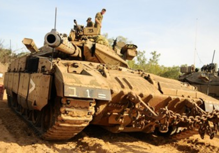 IDF forces mobilizing at Gaza border.