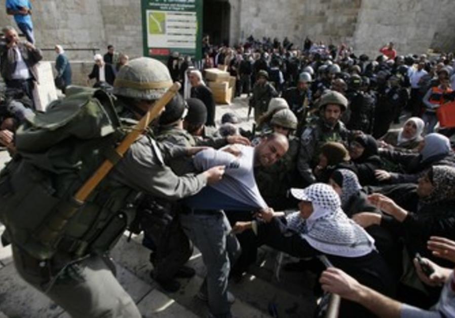 Pro Palestinian protests in Jerusalem.