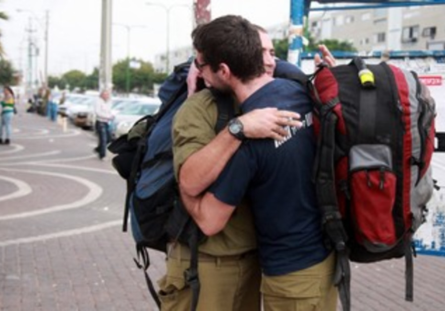 Reserve soldiers prepare to deploy in Ashkelon