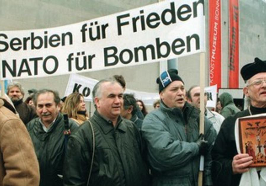demonstration in Bonn during the Kosovo bombing