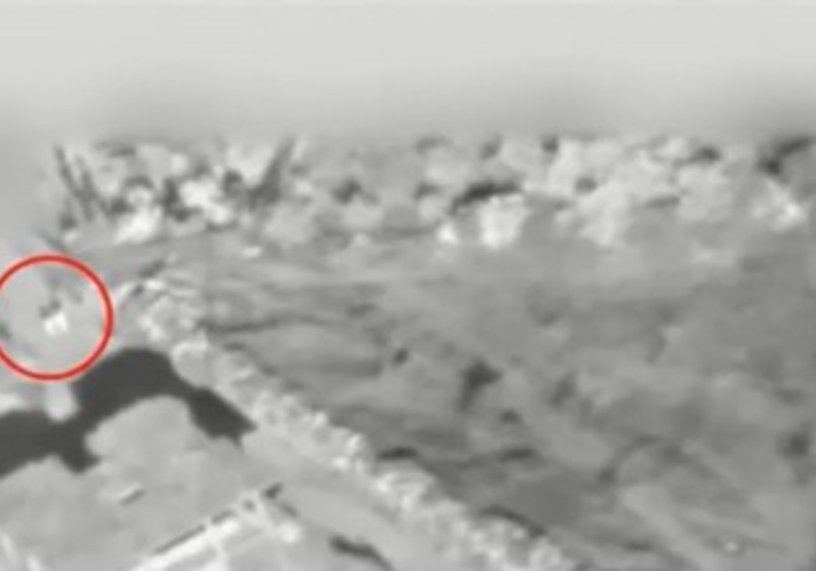 IDF real time footage of bomb target
