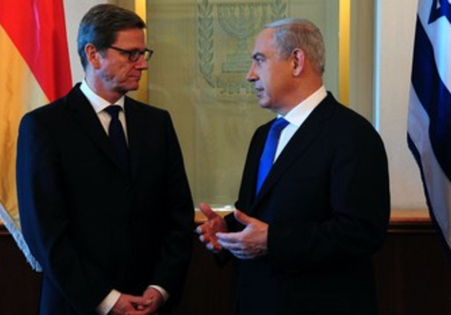 German FM Guido Westerwelle with PM Netanyahu.