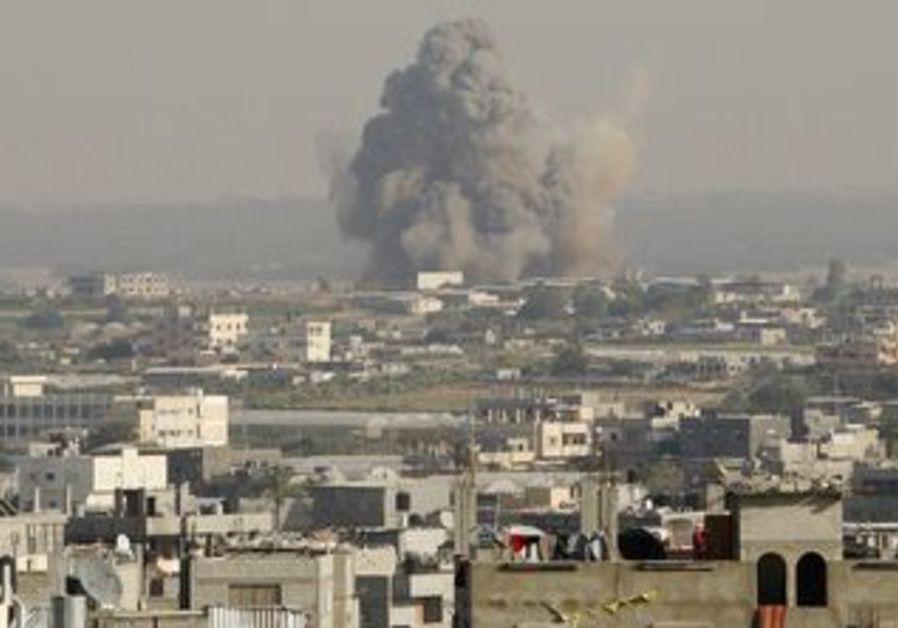 Smoke from explosion in Gaza Strip [file]