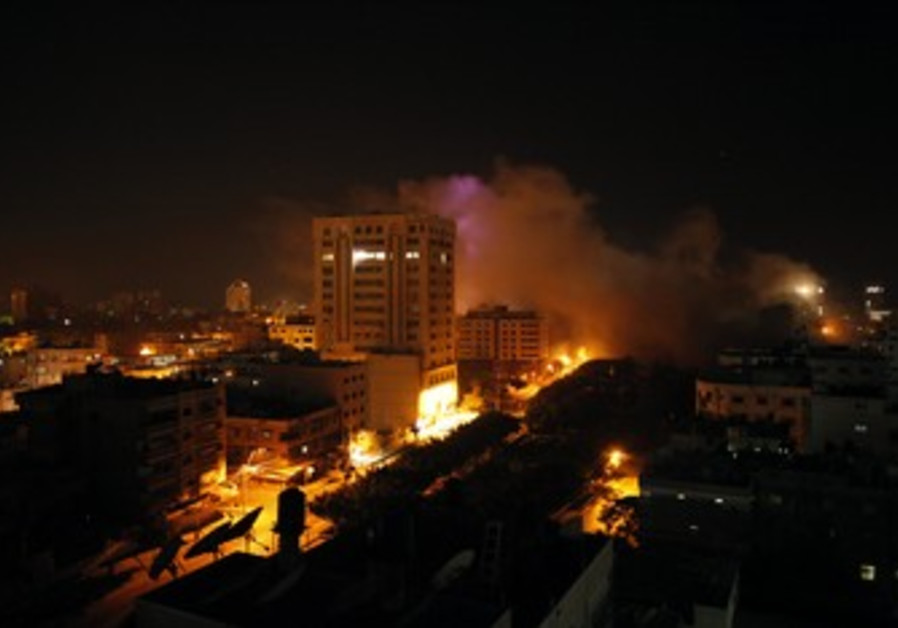 Smoke rises after IAF strike in Gaza