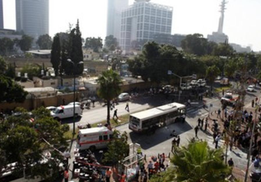 Tel Aviv terror attack on bus