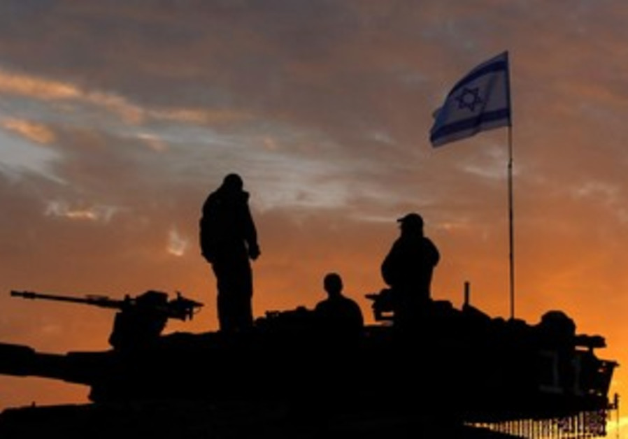 IDF reserve soldiers on the Gaza border at the end of Pillar of Defense, Nov. 22, 2012.