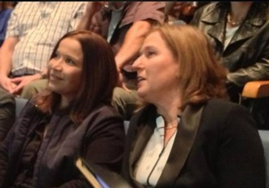 Shelly Yacimovich with Tzipi Livni