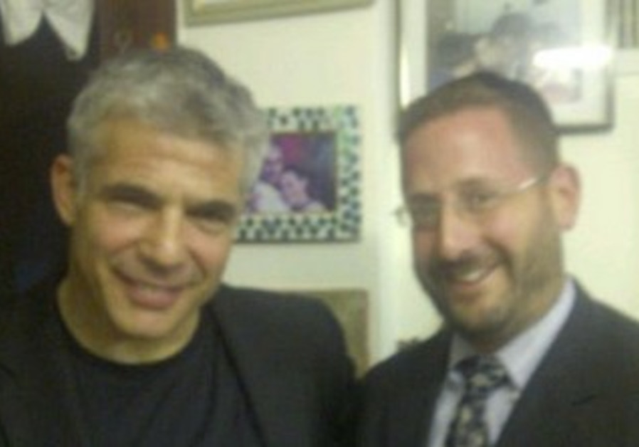 Dov Lipman and Yair Lapid