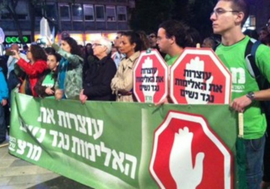 Activists protest violence against women