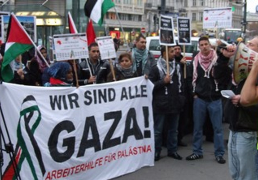Pro Hamas demonstration Vienna.