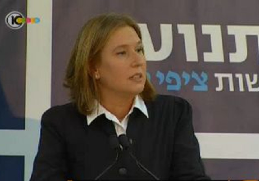 Tzipi Livni announces formation of 'Movement' part