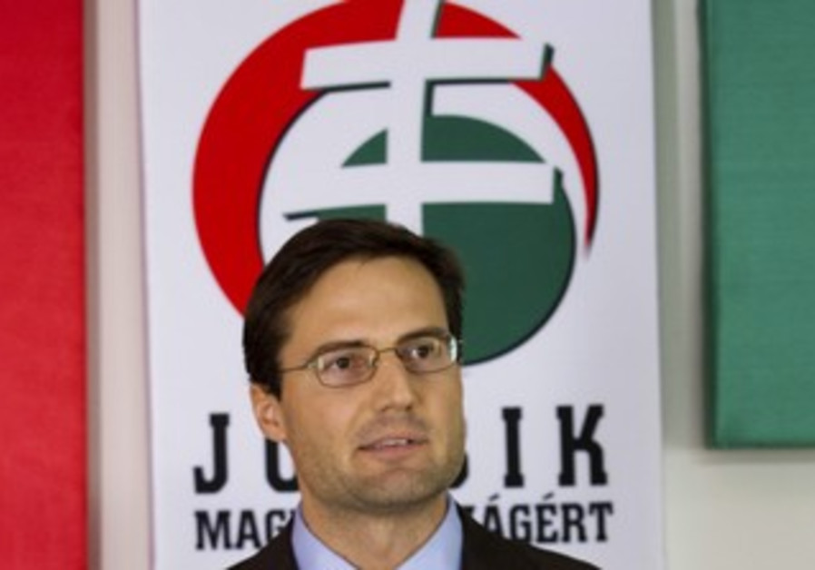 Jobbik political party leader Gyongyosi