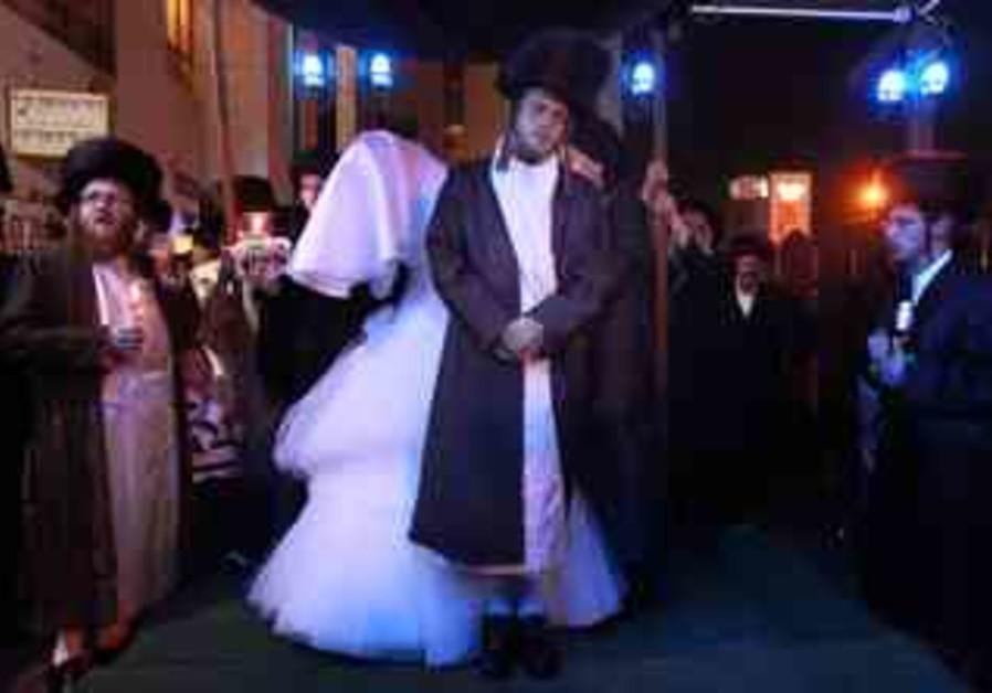 ultra orthodox weeding in bnei brak