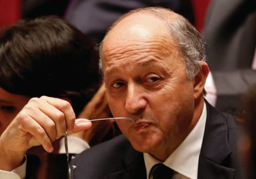 Laurent Fabius à l'Assemblée nationale à Paris