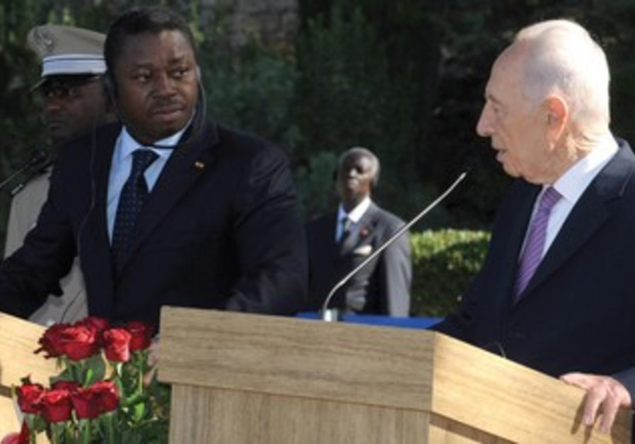 Togolese President Gnassingbe with Peres