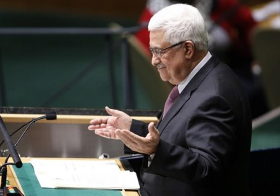 Abbas at UN Headquarters in New York