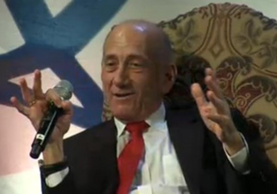 Olmert speaks at Saban Forum in Washington