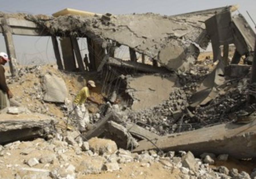 Gaza airport following IAF strike in 2010.