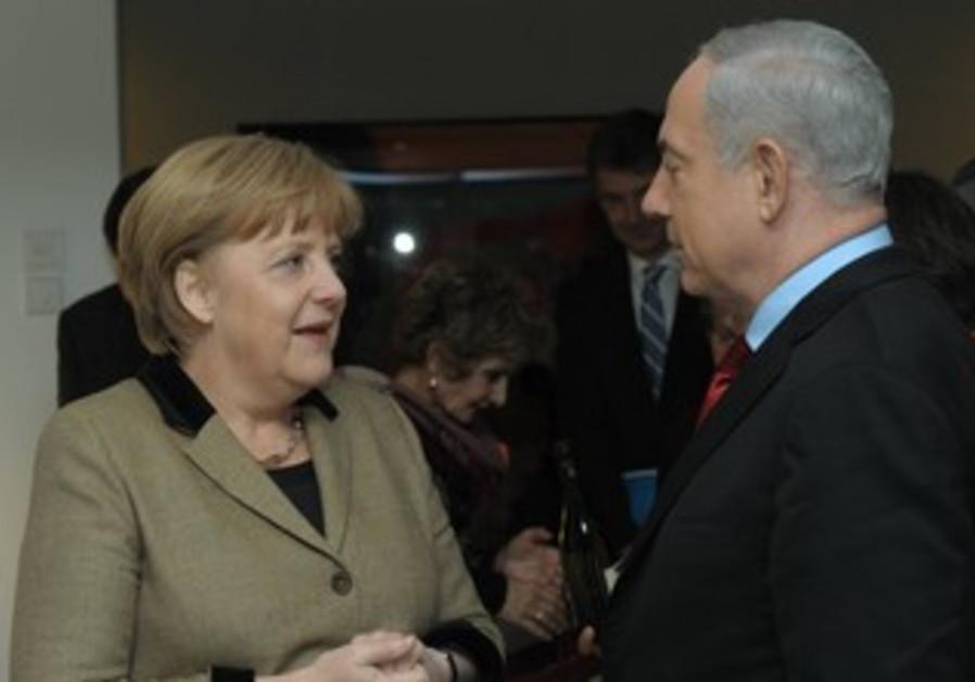 Prime Minister Netanyahu and German Chancellor Merkel