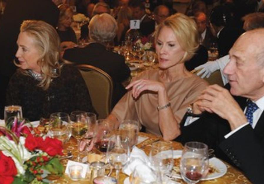 Hillary Clinton, Cheryl Saban, Ehud Olmert