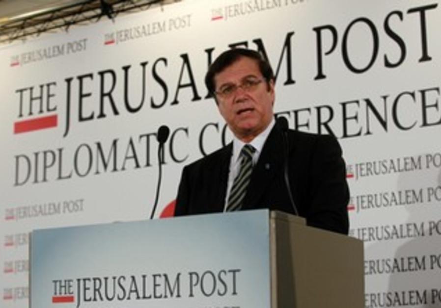 Efi Stenzler at 'The Jerusalem Post' conference