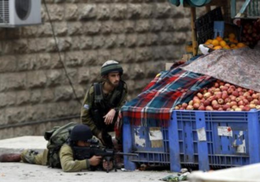IDF soldiers in Hebron
