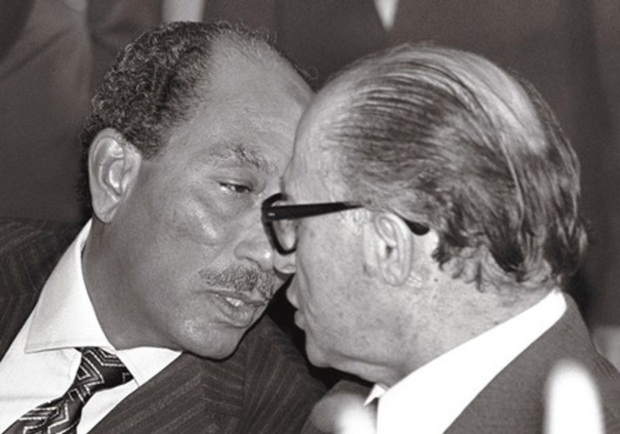 nwar Sadat head to head with prime minister Begin