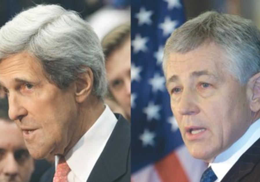 John Kerry and Chuck Hagel.