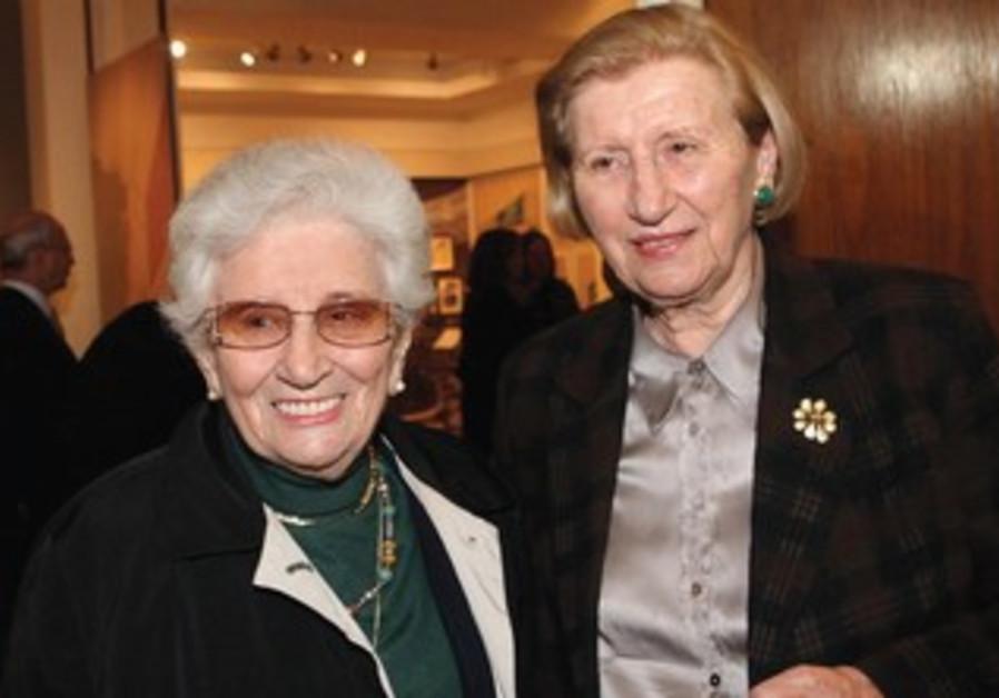 Ruth Dayan and her sister Reuma Weizman.