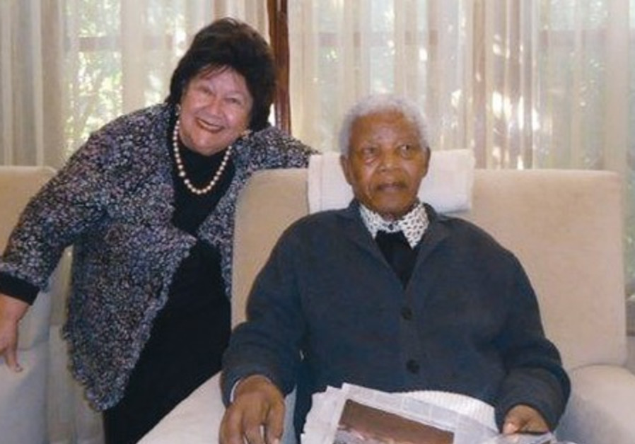 Jeanne Zaidel-Rudolph with Nelson Mandela