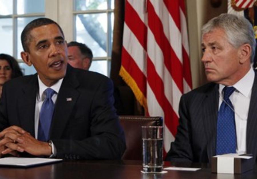 US President Barack Obama and Chuck Hagel