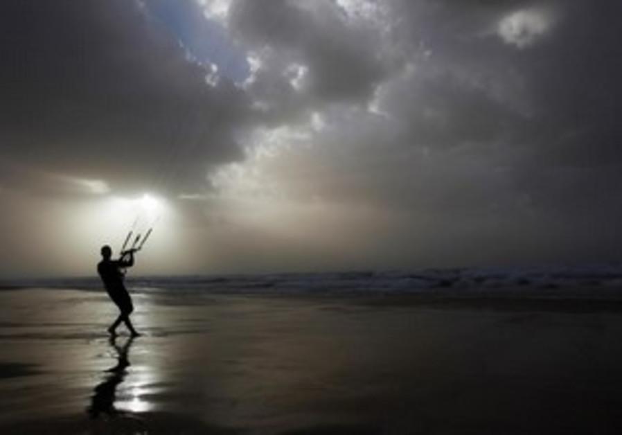 Windy Ashkelon beach