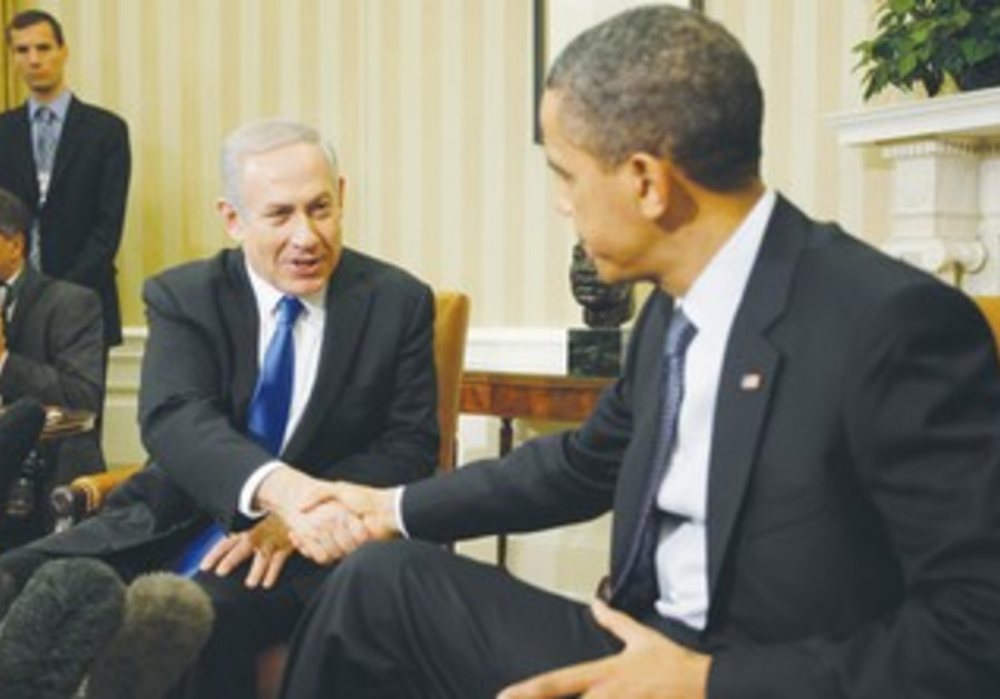 Netanyahu and Obama shake hands