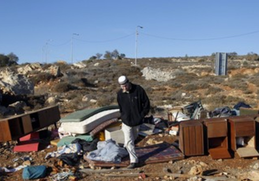 Illegal structure demolished in Oz Zion [file]