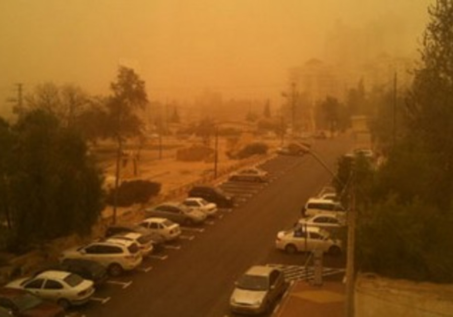 Cloud of dust in Beersheba.