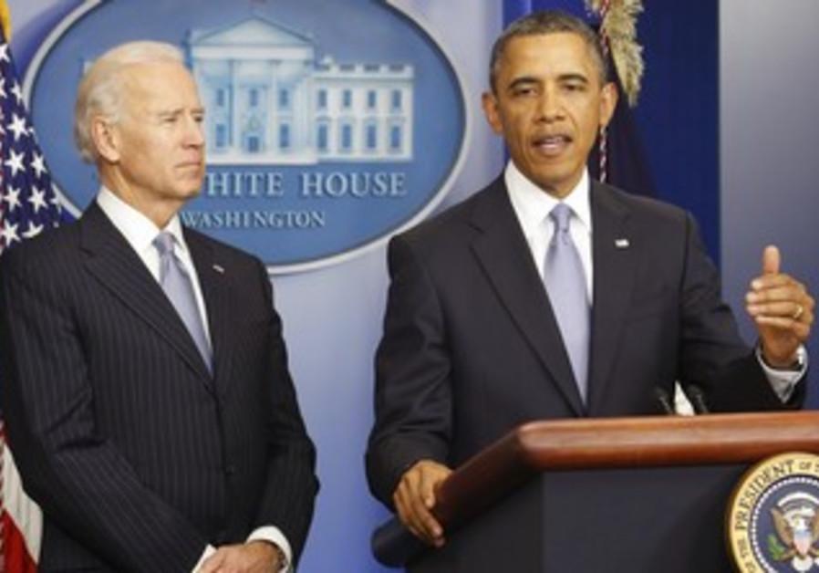 Obama, Biden deliver address on fiscal cliff.
