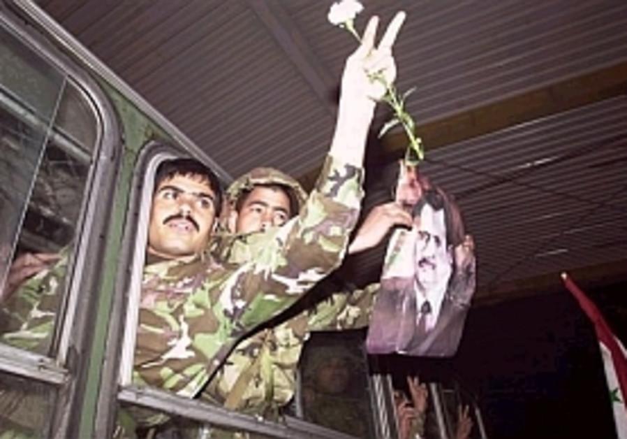 syrian troops leave leba