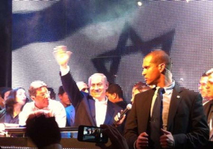 PM Netanyahu parties in TA, January 6, 2013
