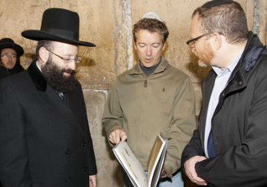 Republican Sen. Rand Paul in Jerusalem