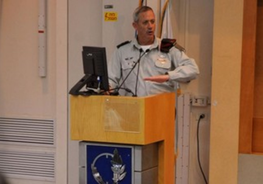 Benny Gantz at military forum, January 7, 2013