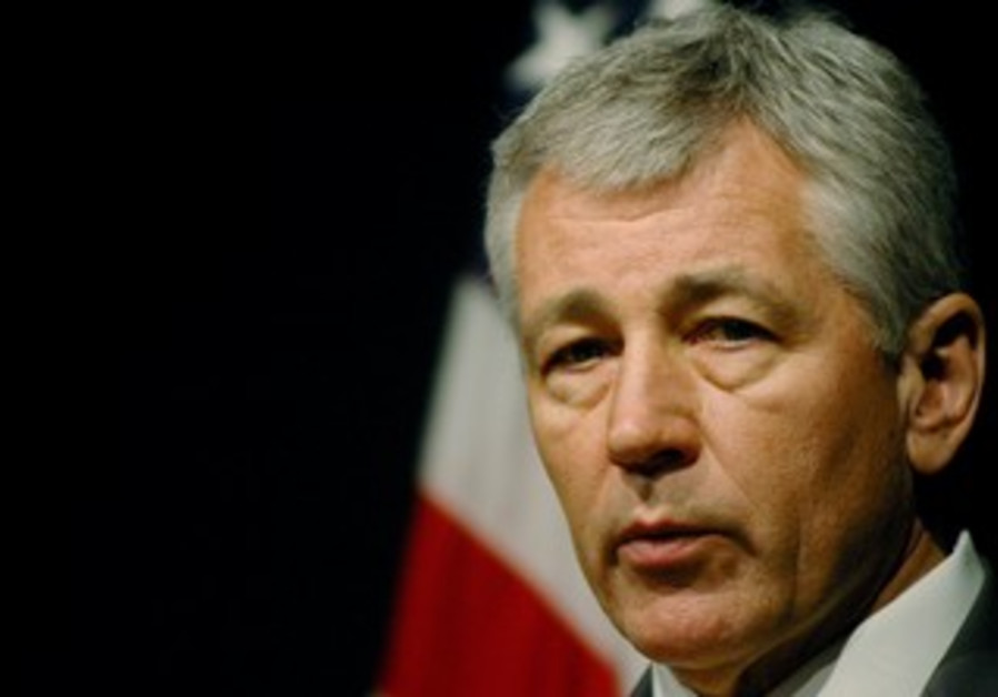 Chuck Hagel speaks in Islamabad, April 13, 2006