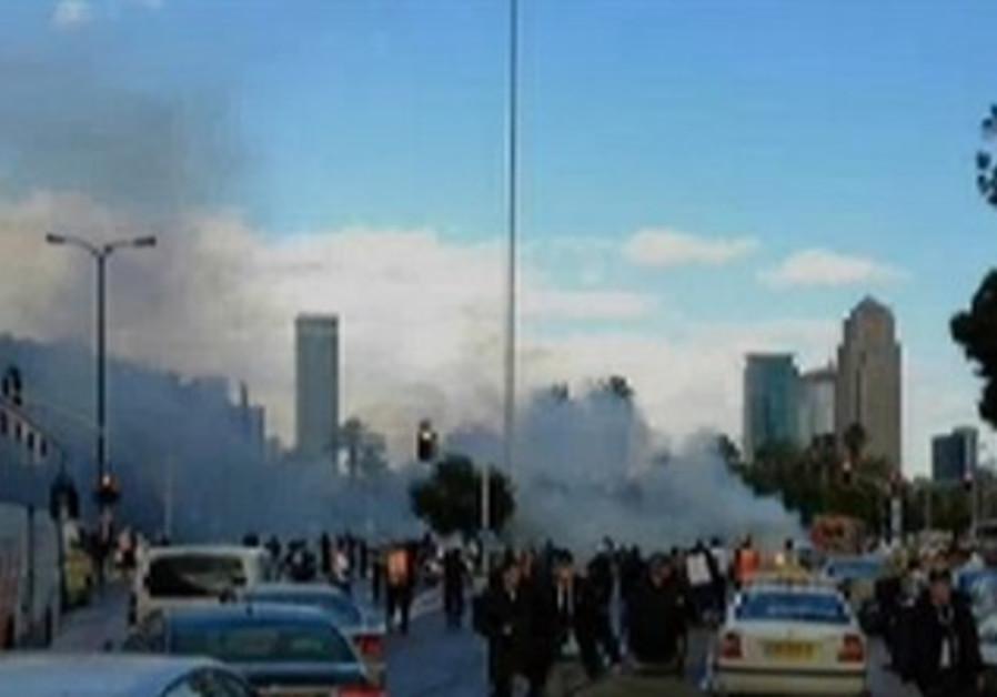 Scene of explosion in central Tel Aviv [Illustrative]